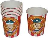 8 Stk. Pappbecher Wickie und die starken Männer Kinderparty Plastik Becher für Kinder Plastikbecher