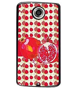 Printvisa 2D Printed Fruit Designer back case cover for Motorola Nexus 6 - D4460