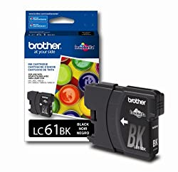 Brother LC61BK Ink Cartridge - Black - Retail Packaging