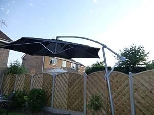 Uk gardens 3m schwarz farbige cantilever for Garten pool 3m