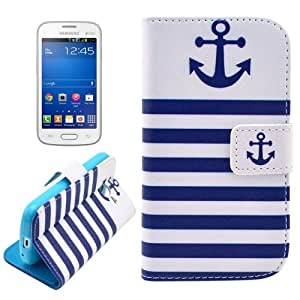 Crazy4Gadget Concise Design Patterns Horizontal Flip Leather Case with Credit Card Slots & Holder for Samsung Galaxy Star Pro/7262