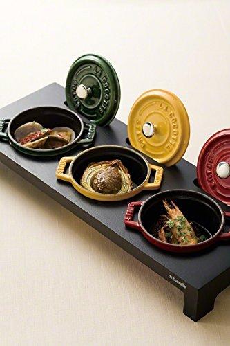Staub Cast Iron - 3 Mini Casseroles Display Shelf- Wooden Black (Cast Iron Cookware Stand compare prices)