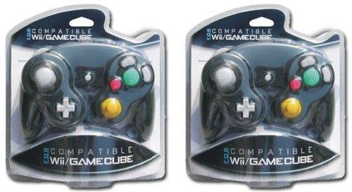 Imagen de Dos GameCube / Wii Controladores compatibles [Negro]