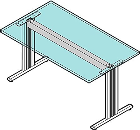 gedotec® Système de structure métal Armature de table réglable en hauteur bureau modèle Camo | Plateau de table Table pour plateau Longueur 800mm | acier revêtu par pulvérisation Ral 9006G structur&
