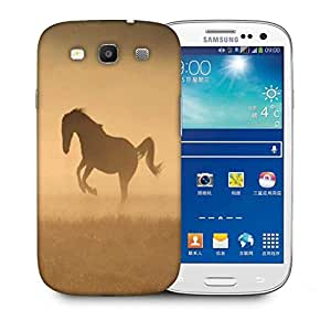 Snoogg Horse In Dust Designer Protective Phone Back Case Cover For Samsung Galaxy S3