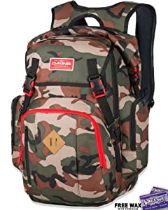 DaKine Cape Wet Dry Backpack Surf Pack by Bubble Gum Surf Wax