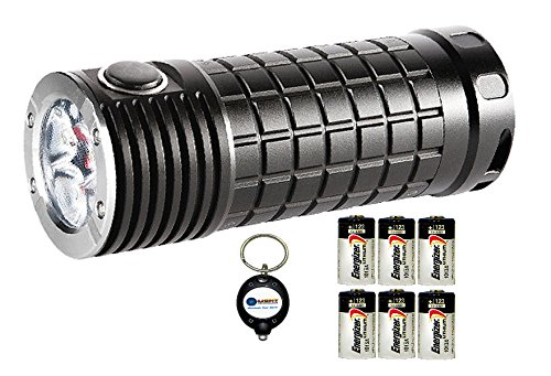 Olight Sr Mini Intimidator Xm-L2 2800 Lumen Led Flashlight Combo With 6X Energizer Cr123A And 1X Keychain Light