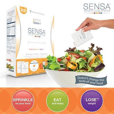 Sensa Weight-Loss System Two Month 1 Shakers, DVD, 30 Quench Packets, Neoprene Case