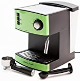 Kitchen - Charles Jacobs 15 Bar Pump COFFEE MACHINE - Espresso Italian Style in Black/Pea Green 1 Year 5 Star Warranty