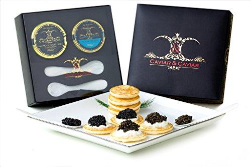 GUARANTEED-OVERNIGHT-CC-International-Gourmet-Caviar-Gift-Box-1oz-Royal-Osetra-1oz-Premium-Sturgeon-2-Spoons-Russian-Blini