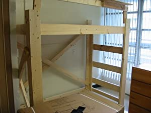 Loft Bed Plans - full color plans available online for Twin, Twin Long, Full, Queen and King size. Each design can support the weight of two adults, great for students, adults, teenagers, college, dorms, bedrooms, apartments, adjustable, free standing, shelf option and rock solid.