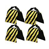 StudioFX SANDBAG Sand Bag SADDLEBAG DESIGN WEIGHT BAGS FOR PHOTO VIDEO STUDIO STAND by Kaezi Photography (Yellow - 4 Pack)