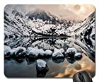 convict lake, california Mouse Pad, Mousepad (Lakes Mouse Pad, Watercolor style)