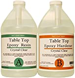TABLE TOP EPOXY RESIN CRYSTAL CLEAR 1 Gallon Kit. FOR SUPER GLOSS COATING