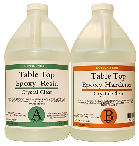 TABLE TOP EPOXY RESIN CRYSTAL CLEAR 1 Gallon Kit. FOR SUPER GLOSS COATING (2 Part Epoxy Resin compare prices)