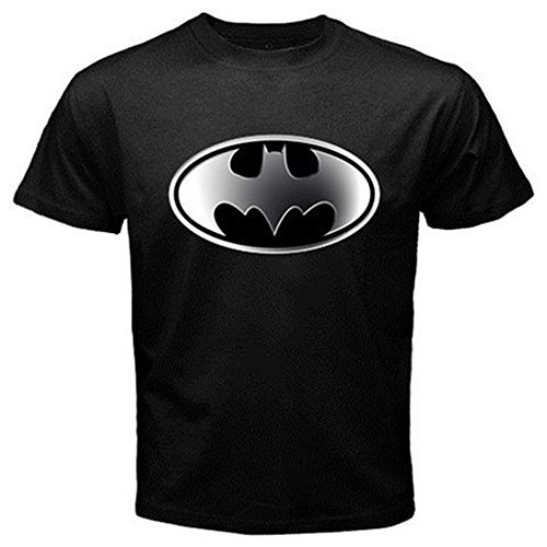 DC Comics Batman Hush Logo II T-Shirt for Adults, Men, Boys- Large - Black (Batman Rubber Cowl compare prices)