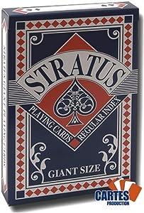 Juego de 52 cartas Giant : Stratus Bleu [importado de Francia]