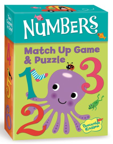 Peaceable Kingdom / Numbers 2-In-1 Match Up Memory Game & Floor Puzzle front-834095