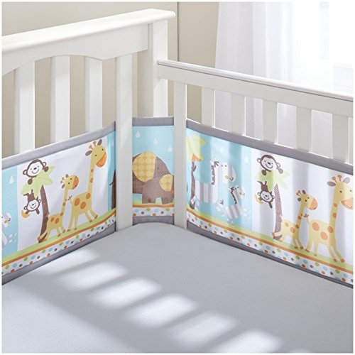 BreathableBaby Breathable Mesh Printed Liner - Best Friends (Baby Crib Liner compare prices)