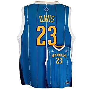 New Orleans Pelicans Anthony Davis Youth Jersey Navy by adidas