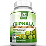 BRI Nutrition Triphala - 1000mg Veggie Himalaya Triphala Pure Extract Plus - 30 Day Supply - 60ct Veggie Capsules (Color: 60 Capsules, Tamaño: 60 Count)