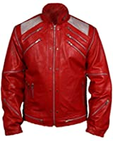 De HLS Hommes Michael Jackson Beat It Red Faux Leather Jacket