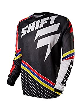 Maillot Motocross Shift 2015 Strike Stripes Noir