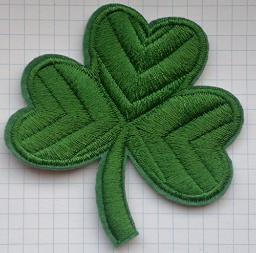 Irish Clover Military Embroidered Cloth Iron On Patch Appliques