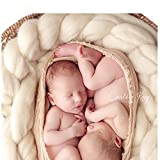 Finejo Newborn Baby Wool blanket Stuffer Carpet Basket Wraps Photography Prop
