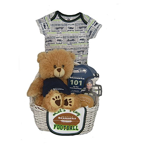 new product f8dc3 daf39 Seattle Seahawks Baby Gift Basket - Christmas and New Year ...