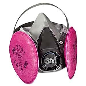 3M 6000 Series Half Facepiece Respirator, Medium