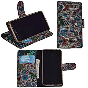 R&A Pu Leather Wallet Flip Case Cover With Card & ID Slots & Magnetic Closure For Sony Xperia Tipo