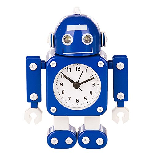 Robot Horloge Movable chevet alarme horloge analogique yeux šŠtincelants Et Son G