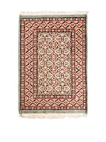 QURAMA Alfombra Kashmir Rojo/Multicolor 92 x 60 cm