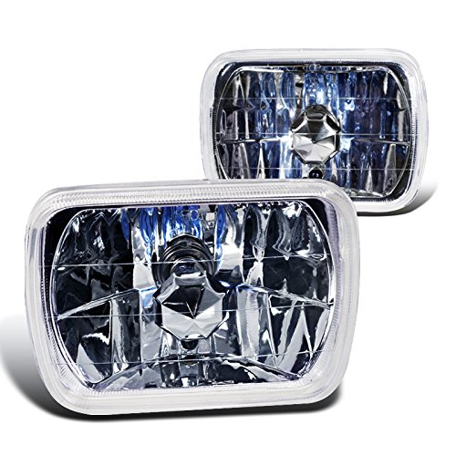 Spec-D Tuning LH-7X6 7X6 H4 Lamps Chrome Crystal Head Lights Set Universal (1988 Ford Ranger Parts compare prices)