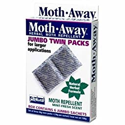 Herbal Moth Away Jumbo Twin Pack Non Toxic Natural Repellent