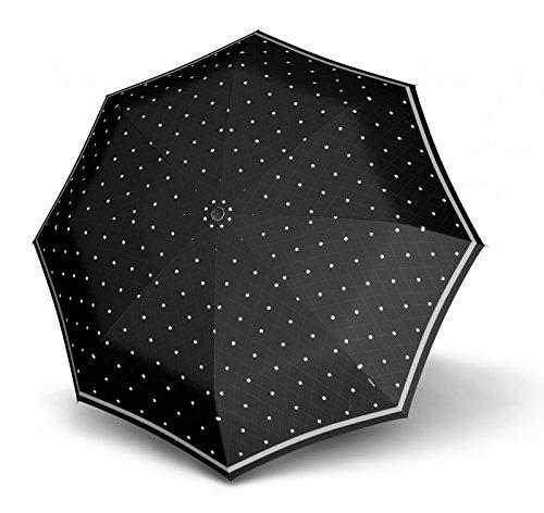 knirps-t200-medium-duomatic-reflective-dots-black