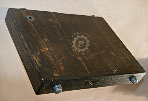 Rustic Nightstand, Rustic Side Table, Steampunk Table, Steampunk Decor, Bedroom Decor, Industrial Decor, Urban Decor, Floating Table