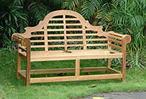 Amazon.com : Marlborough Teak Garden Bench Fabric