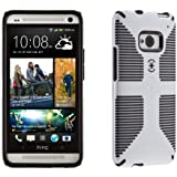 Speck Products SPK-A1975 CandyShell Grip Case for HTC One - 1 Pack - Retail Packaging - White/Black