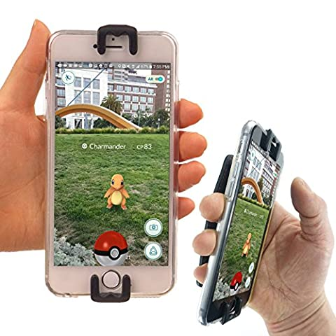 ポケモンGO ポケモンゴー 攻略 ゲット - WiLLBee CLIPON (黒) Pokemon Go スマホ ハンド バンド ホルダー リング - Xperia iPhone 6S 6 Plus