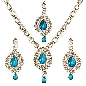 Amazon.com: Bollywood Designer Indian Pakistani Ethnic Kundan Necklace