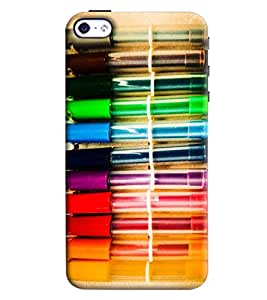 Blue Throat Colored Pen Hard Plastic Printed Back Cover/Case For Apple iPhone 4s