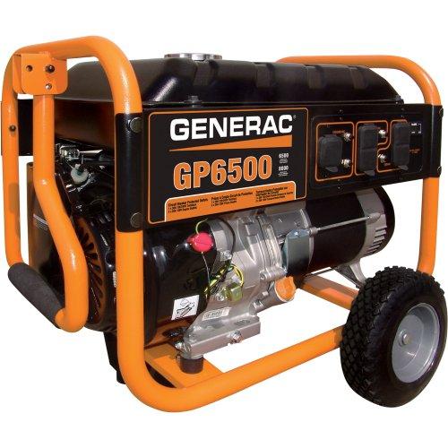 - Generac Gp6500 Portable Generator - 389Cc Ohv, 8125 Surge Watts, 6500 Rated Watts, Model# 5940