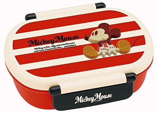 スケーター  タイトランチボックス 360ml ミッキーマウス ボーダー ディズニー QA2BRF