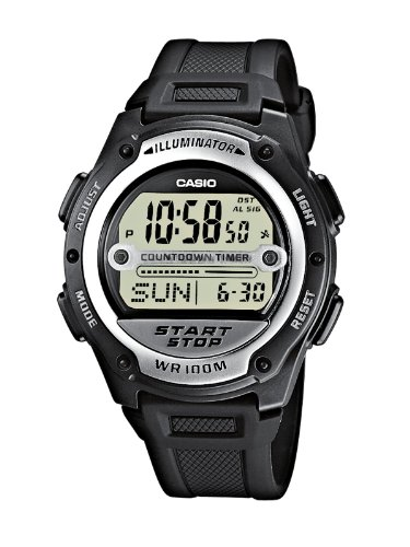 Casio W-756-1AVEF Mens Digital Resin Strap watch