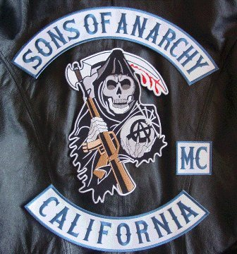 SOA Patch Set Anarchy Back Patches Rockers sons Blue 4 patches combo New MC