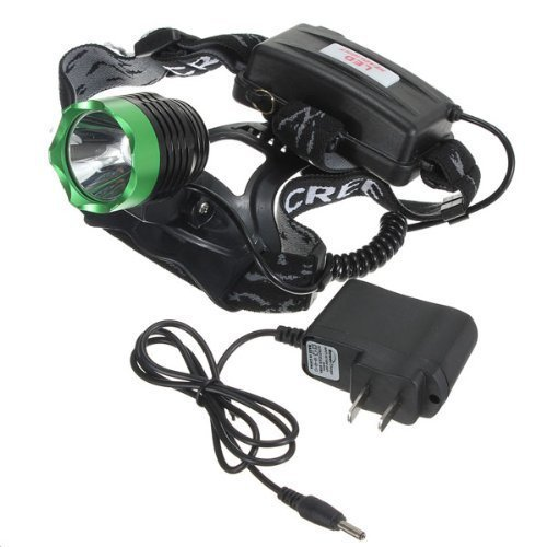 Happiness At Home New Outdoor Super Bright Cree Xm-L Xml T6 U2 Led 1800 Lm Headlamp Rechargeable Headlight (Green Head)