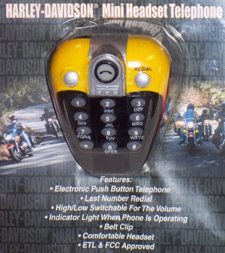 Harley-Davidson Mini Headset Telephone (683333212038)