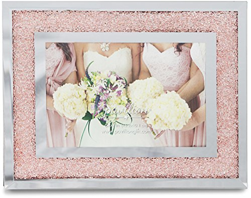 Pavilion Gift Company Glorious Occasions Pink Crystal Wedding Bridesmaids Picture Frame, 6